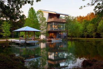 Casa integrada com a natureza