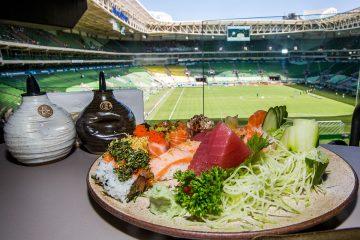 Gastronomia Japonesa com vista para o campo